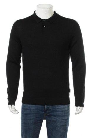 Мъжки пуловер Calvin Klein, Размер M, Цвят Черен, 72% вълна, 28% коприна, Цена 80,92лв.