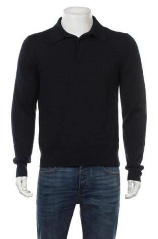 Ανδρικό πουλόβερ Filippa K, Μέγεθος M, Χρώμα Μπλέ, 50% βαμβάκι, 50% μαλλί, Τιμή 30,72€