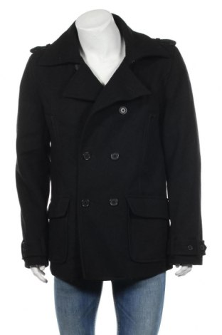 Ανδρικά παλτό Pepe Jeans, Μέγεθος L, Χρώμα Μαύρο, 80% μαλλί, 20% πολυαμίδη, Τιμή 45,44€