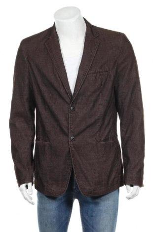 Мъжко сако DKNY Jeans, Размер L, Цвят Кафяв, 60% полиестер, 40% памук, Цена 11,18лв.