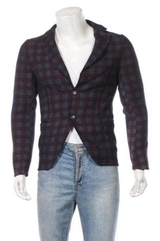 Мъжко сако Sisley, Размер XS, Цвят Многоцветен, 45% вълна, 25% памук, 20% полиестер, 5% други нишки, Цена 26,40лв.