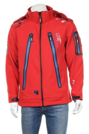 Мъжко спортно яке Geographical Norway, Размер S, Цвят Червен, 96% полиестер, 4% еластан, Цена 103,60лв.