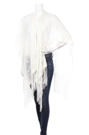 Пончо Naf Naf, Размер M, Цвят Бял, 72% памук, 28% полиамид, Цена 55,30лв.