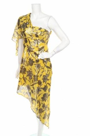 Φόρεμα Un Deux Trois, Μέγεθος XS, Χρώμα Κίτρινο, 73% μετάξι, 27% πολυεστέρας, Τιμή 6,68€