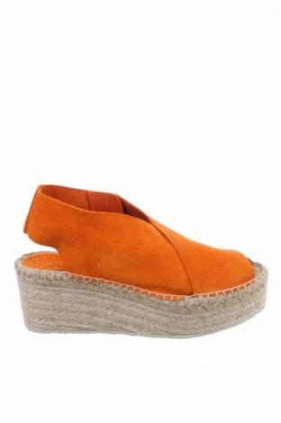 Σανδάλια Bimba Y Lola, Μέγεθος 38, Χρώμα Πορτοκαλί, Φυσικό σουέτ, Τιμή 81,96€