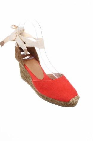Σανδάλια Castaner, Μέγεθος 36, Χρώμα Κόκκινο, Κλωστοϋφαντουργικά προϊόντα, Τιμή 44,54€