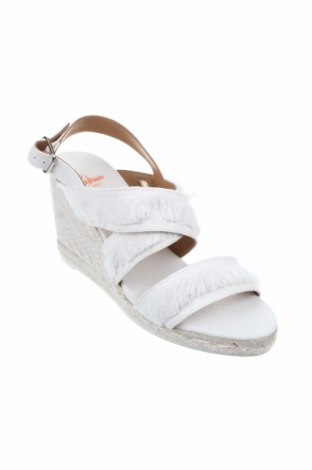 Σανδάλια Castaner, Μέγεθος 41, Χρώμα Λευκό, Κλωστοϋφαντουργικά προϊόντα, Τιμή 36,86€