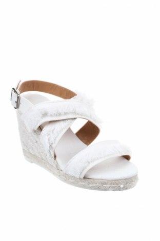 Σανδάλια Castaner, Μέγεθος 35, Χρώμα Λευκό, Κλωστοϋφαντουργικά προϊόντα, Τιμή 36,86€