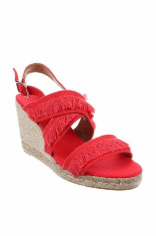 Σανδάλια Castaner, Μέγεθος 41, Χρώμα Κόκκινο, Κλωστοϋφαντουργικά προϊόντα, Τιμή 38,40€