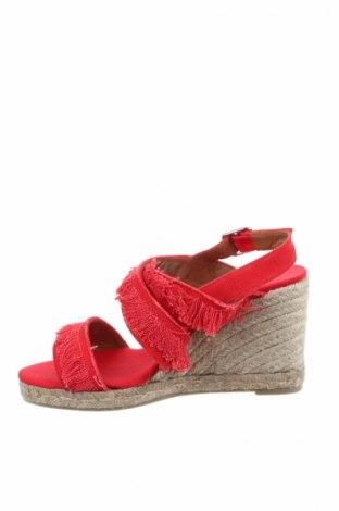Σανδάλια Castaner, Μέγεθος 38, Χρώμα Κόκκινο, Κλωστοϋφαντουργικά προϊόντα, Τιμή 38,40€