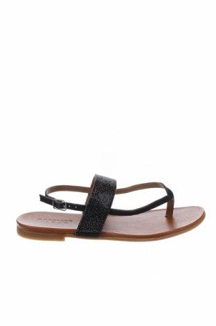 Σανδάλια Inuovo, Μέγεθος 37, Χρώμα Μαύρο, Γνήσιο δέρμα, Τιμή 26,47€