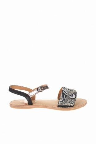 Σανδάλια Irl, Μέγεθος 37, Χρώμα Μαύρο, Κλωστοϋφαντουργικά προϊόντα, γνήσιο δέρμα, Τιμή 23,12€