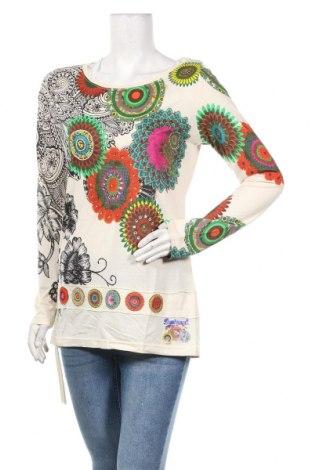 Туника Desigual, Размер L, Цвят Екрю, 50% памук, 50% модал, Цена 55,30лв.