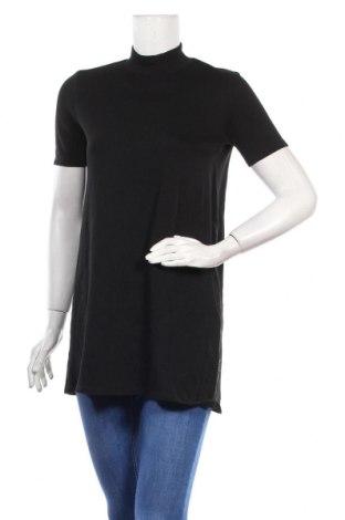 Туника Zara Trafaluc, Размер S, Цвят Черен, 97% памук, 3% еластан, Цена 13,44лв.