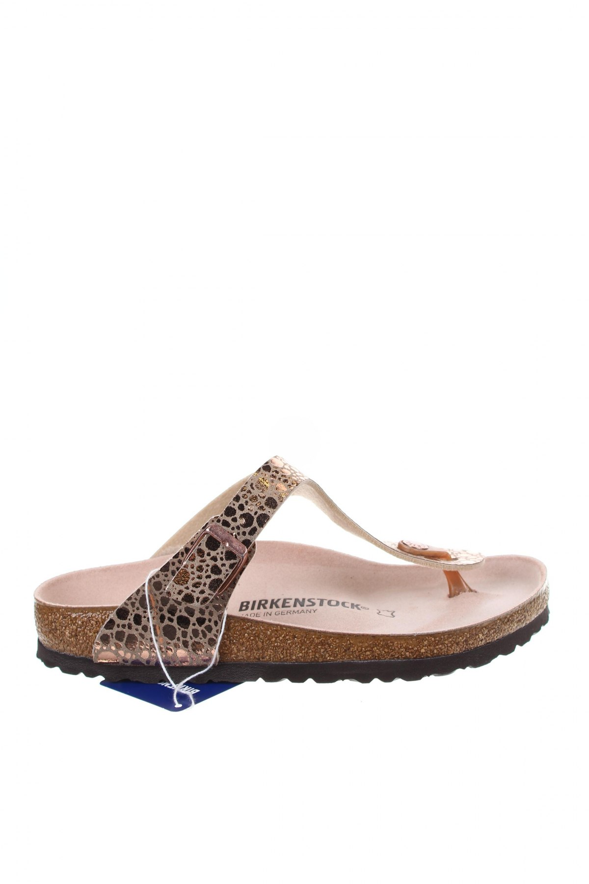 Γυναικείες παντόφλες Birkenstock, Μέγεθος 37, Χρώμα Χρυσαφί, Δερματίνη, Τιμή 35,58€