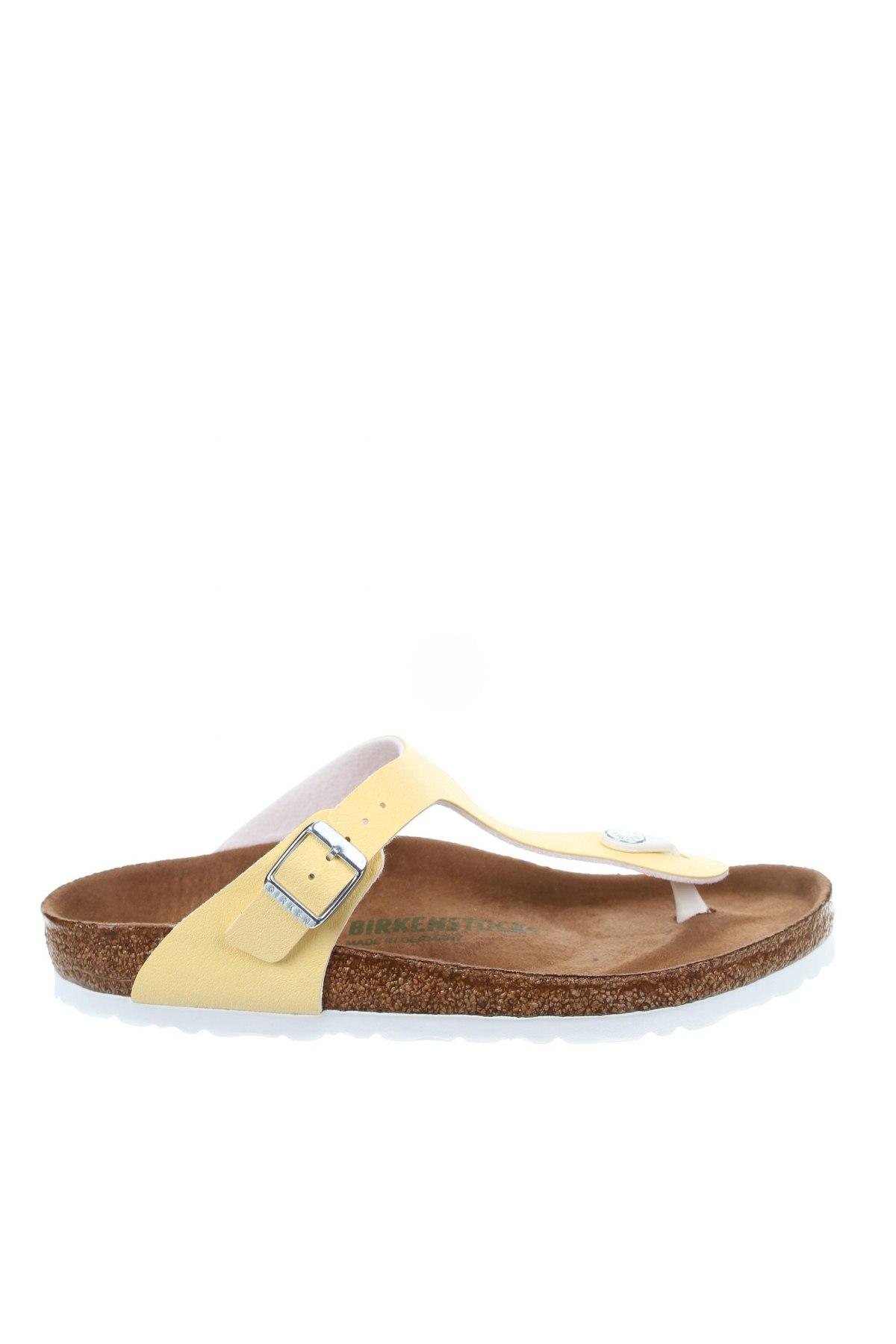 Γυναικείες παντόφλες Birkenstock, Μέγεθος 39, Χρώμα Κίτρινο, Δερματίνη, Τιμή 32,51€