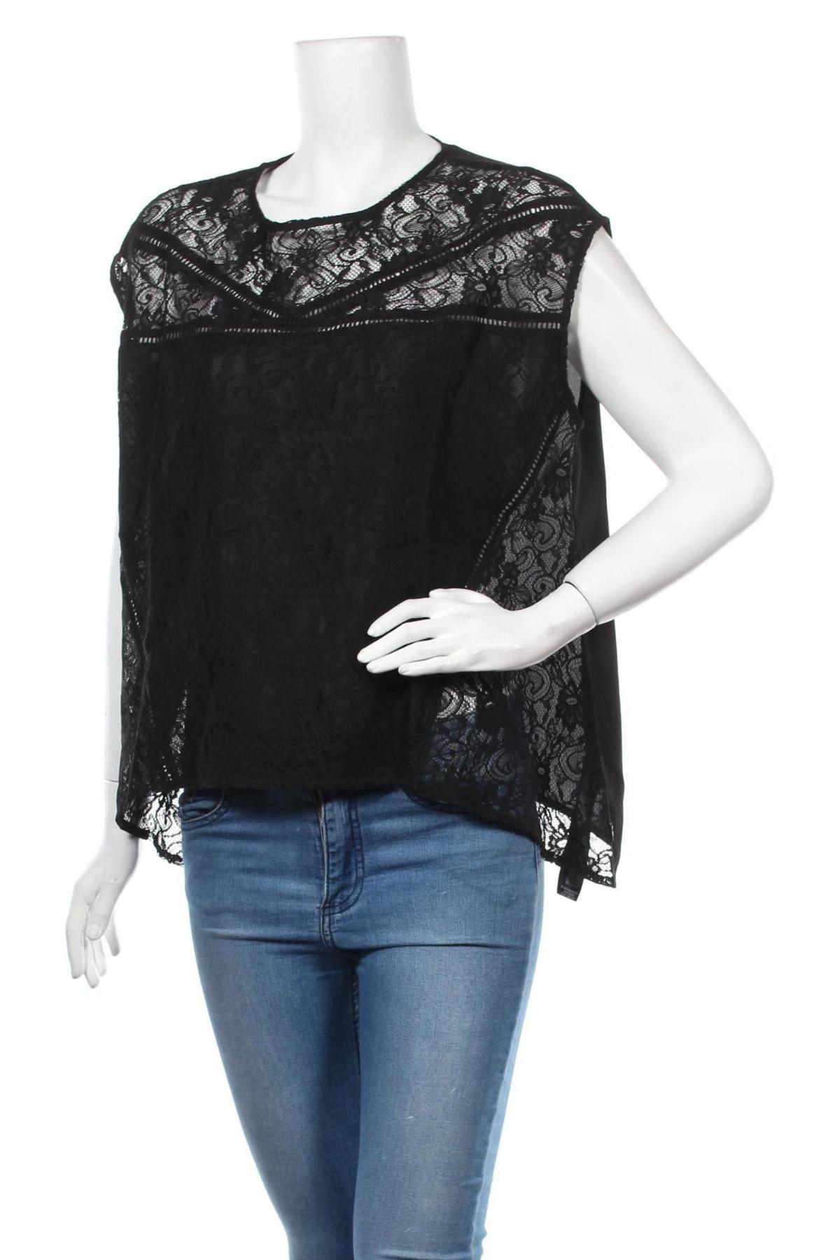 Γυναικεία μπλούζα Le Temps Des Cerises, Μέγεθος S, Χρώμα Μαύρο, 97% πολυεστέρας, 3% ελαστάνη, Τιμή 5,43€