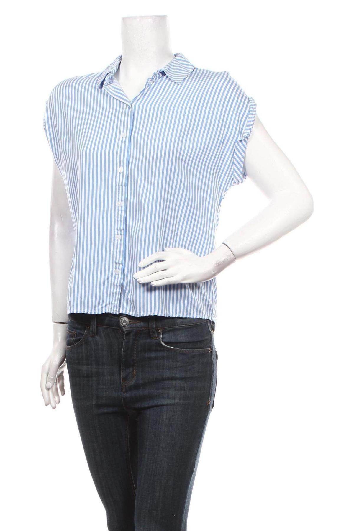 Дамска риза Tom Tailor, Размер S, Цвят Син, Вискоза, Цена 28,42лв.