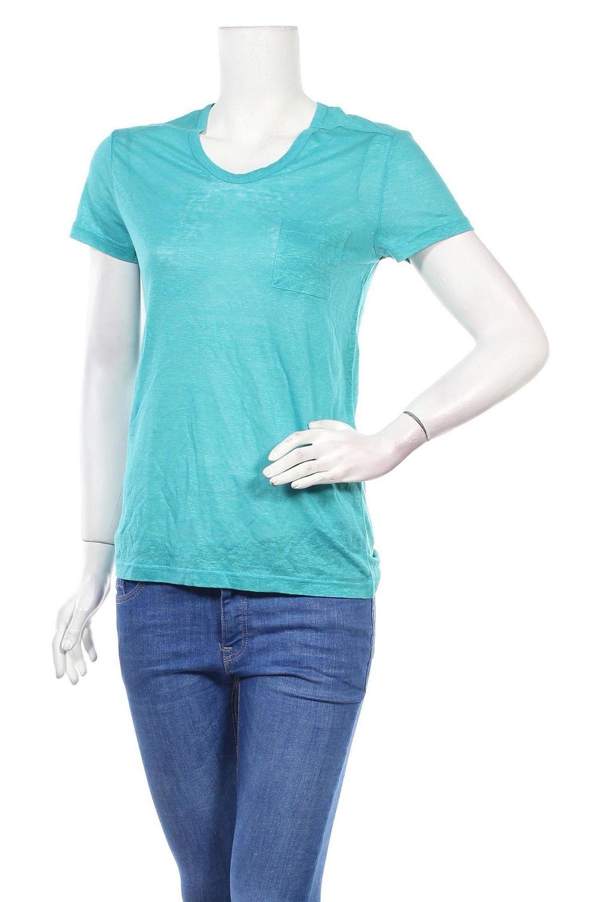 Дамска тениска BelAir, Размер M, Цвят Син, Лен, Цена 40,02лв.