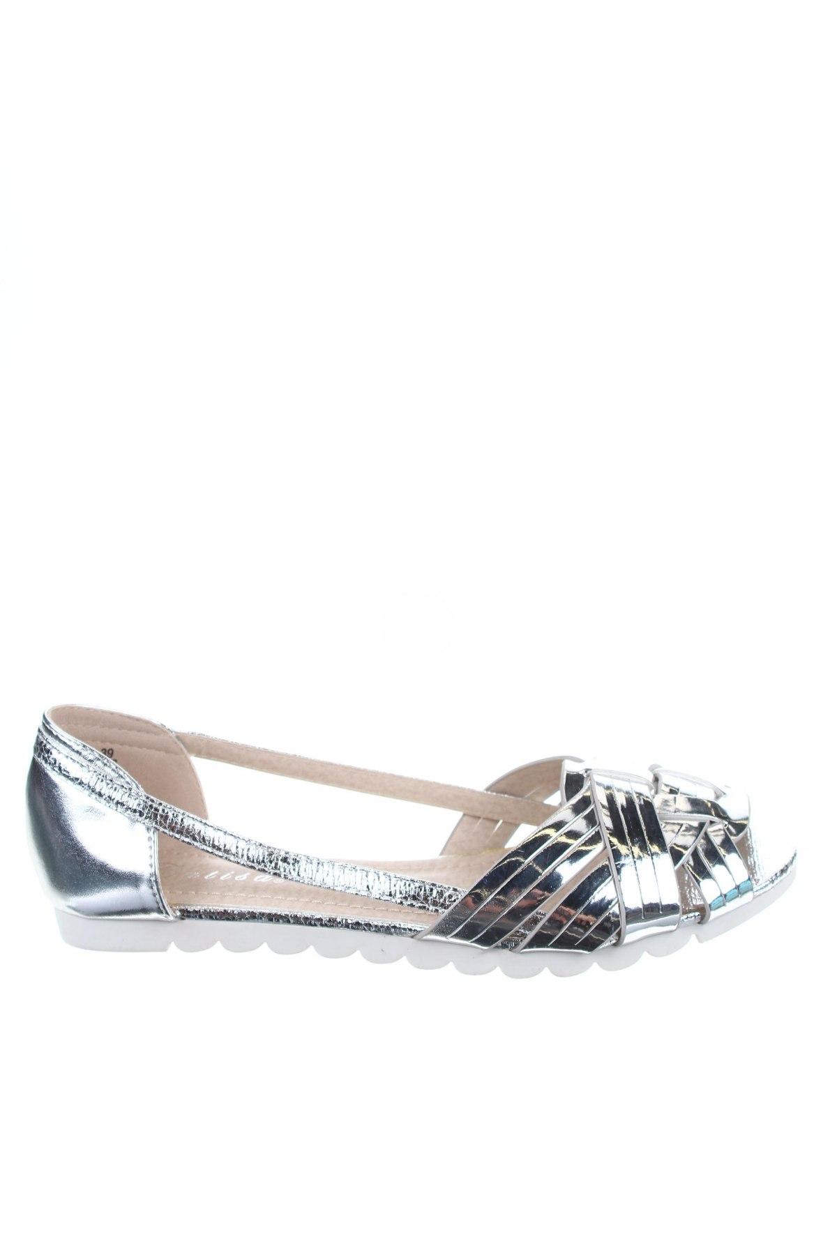 Γυναικεία παπούτσια Catisa, Μέγεθος 39, Χρώμα Ασημί, Δερματίνη, Τιμή 17,42€