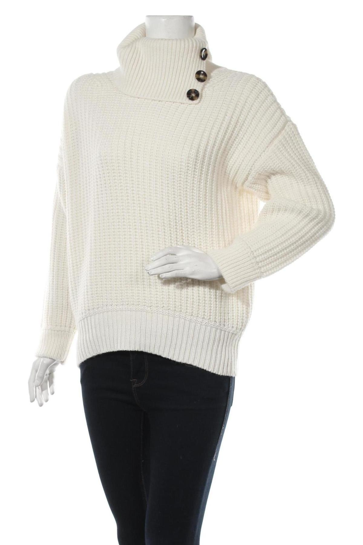 Дамски пуловер Massimo Dutti, Размер S, Цвят Екрю, 52% акрил, 25% вълна, 23% полиамид, Цена 66,75лв.