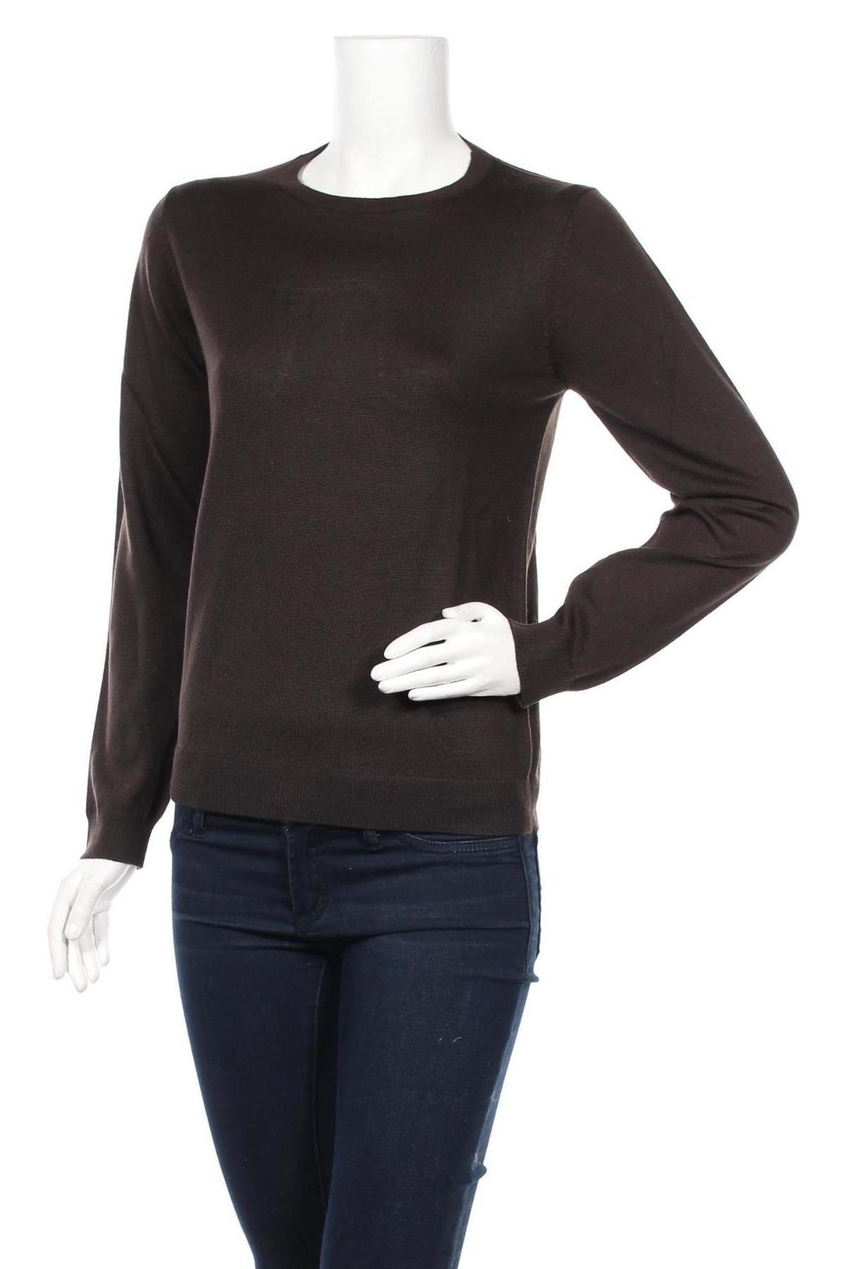 Дамски пуловер Rodier, Размер L, Цвят Кафяв, Вълна, Цена 96,75лв.