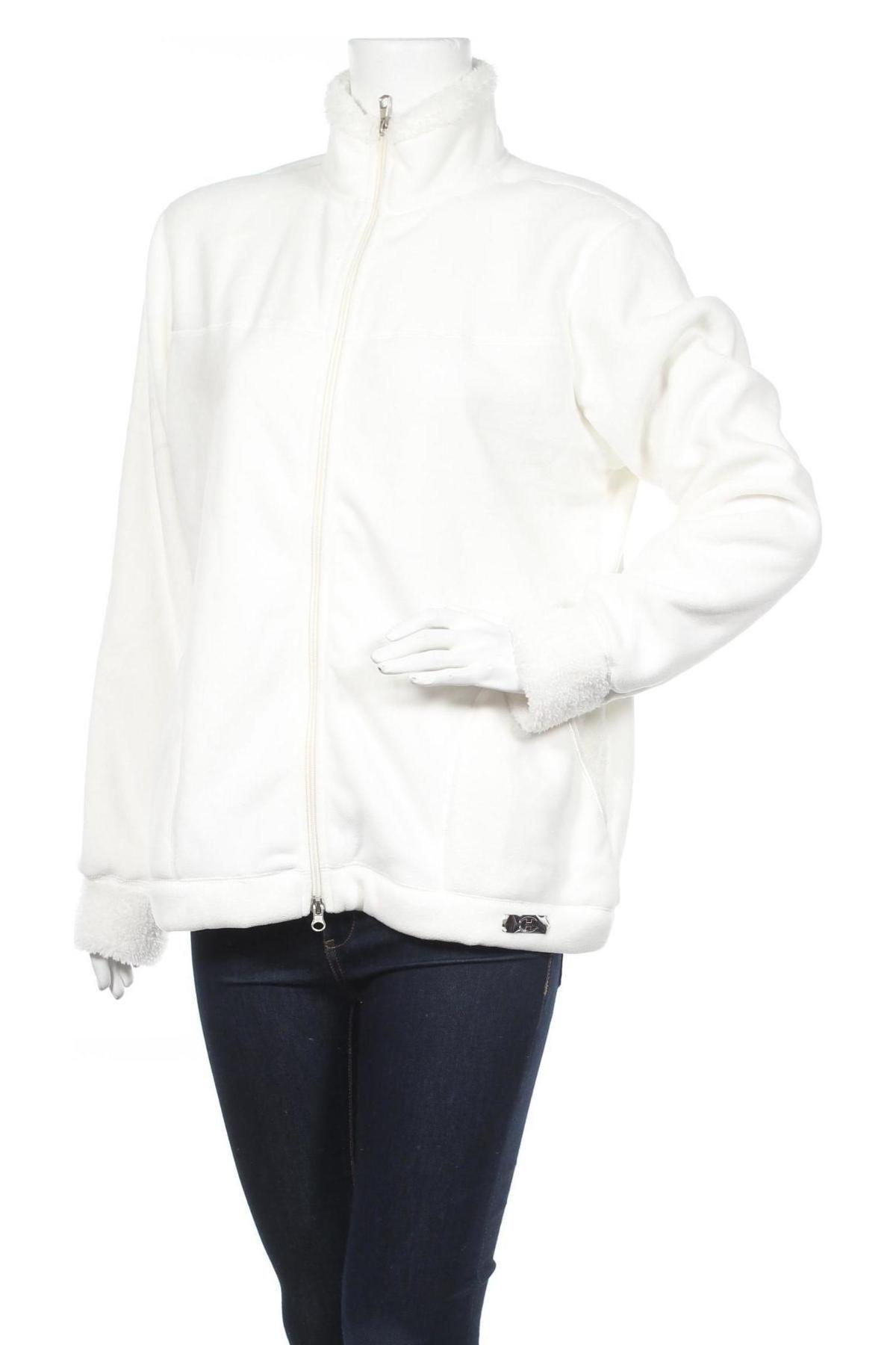Дамско поларено горнище Champion, Размер XL, Цвят Бял, Полиестер, Цена 51,00лв.