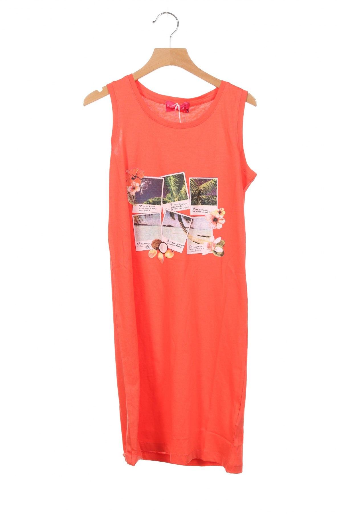 Παιδικό φόρεμα Little Marcel, Μέγεθος 12-13y/ 158-164 εκ., Χρώμα Πορτοκαλί, Βαμβάκι, Τιμή 16,08€