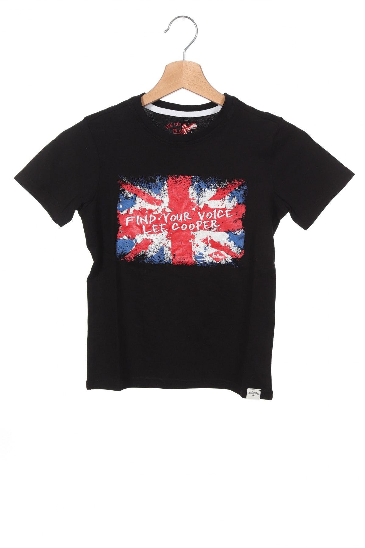 Детска тениска Lee Cooper, Размер 7-8y/ 128-134 см, Цвят Черен, Памук, Цена 24,00лв.