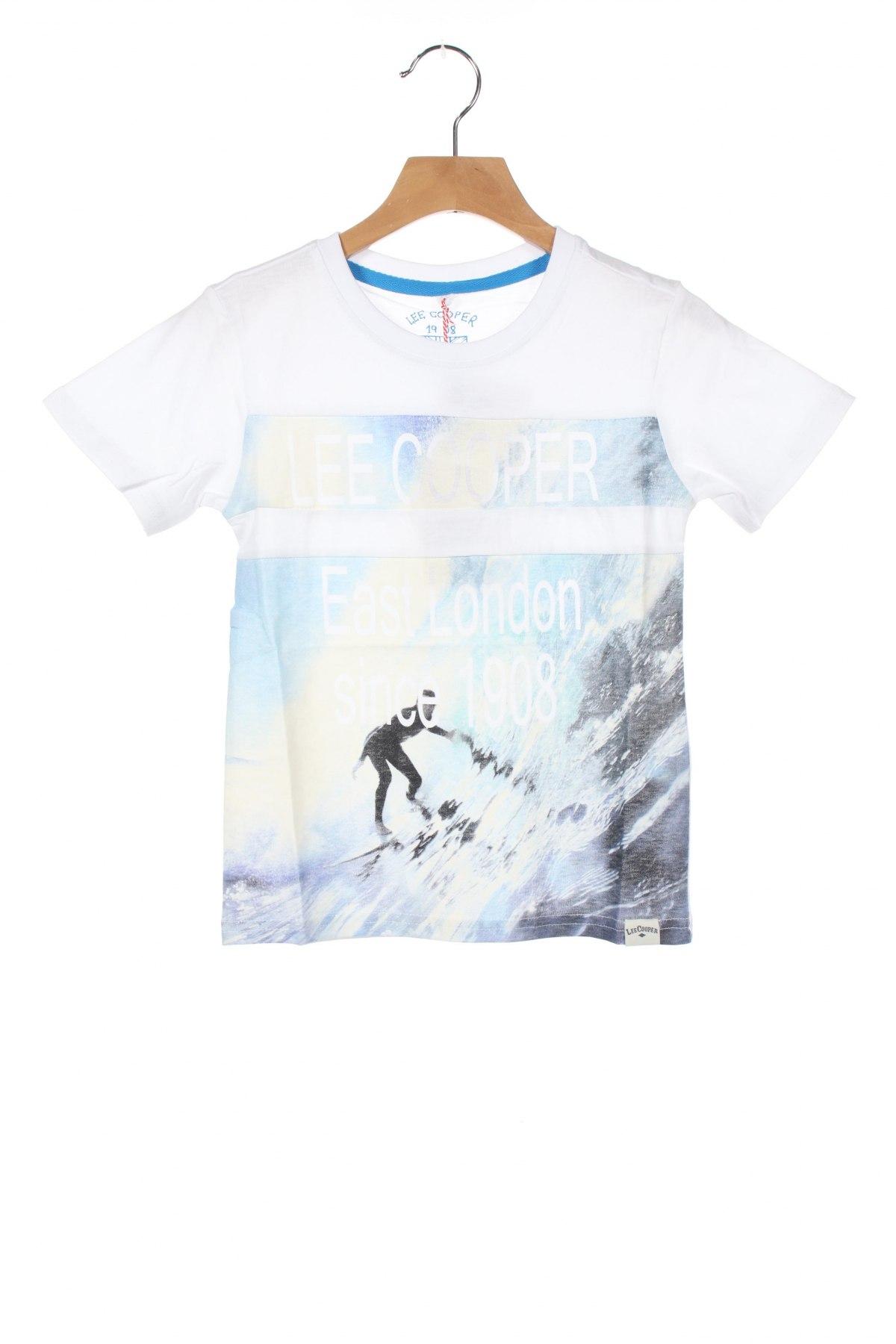 Детска тениска Lee Cooper, Размер 4-5y/ 110-116 см, Цвят Бял, Памук, Цена 24,00лв.