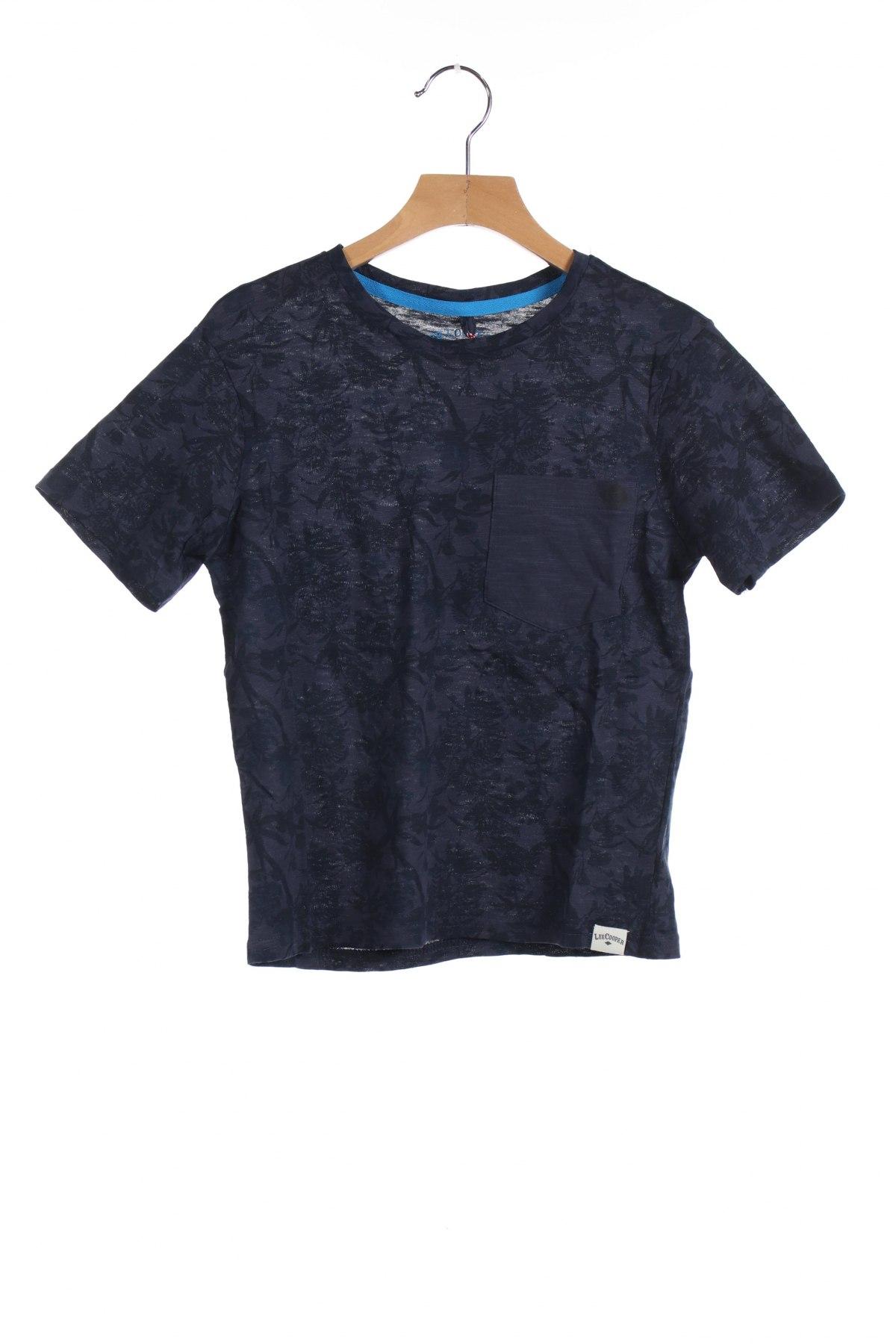 Детска тениска Lee Cooper, Размер 9-10y/ 140-146 см, Цвят Син, Памук, Цена 24,00лв.
