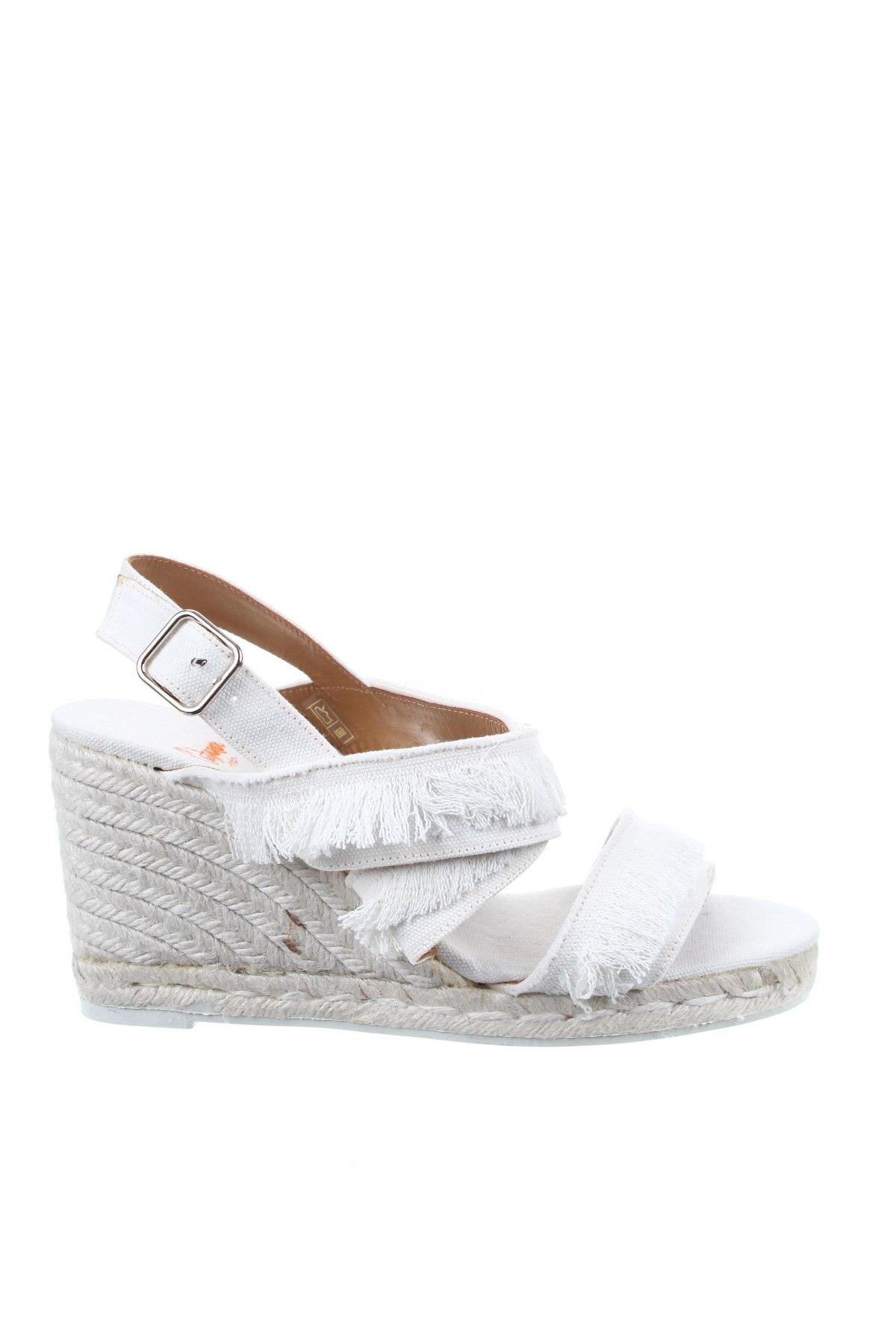 Σανδάλια Castaner, Μέγεθος 40, Χρώμα Λευκό, Κλωστοϋφαντουργικά προϊόντα, Τιμή 36,86€