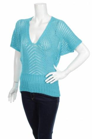 Дамски пуловер, Размер M, Цвят Син, 70% акрил, 30% вълна, Цена 8,97лв.