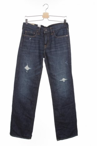 Детски дънки Abercrombie Kids, Размер 15-18y/ 170-176 см, Цвят Син, 100% памук, Цена 30,00лв.