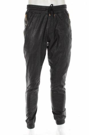 Męskie spodnie skórzane