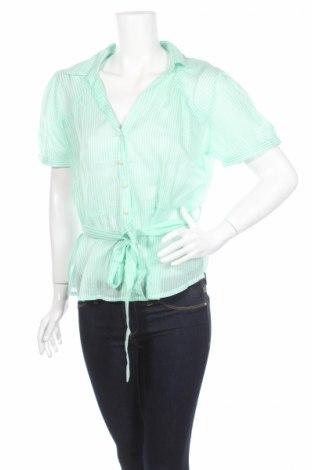 Дамска риза H&M, Размер XL, Цвят Зелен, Памук, Цена 23,00лв.