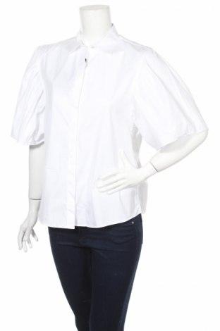 Дамска риза Massimo Dutti, Размер M, Цвят Бял, 100% памук, Цена 17,70лв.