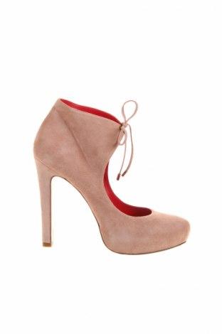 Încălțăminte de damă Pura Lopez, Mărime 38, Culoare Roz, Velur natural, Preț 185,68 Lei