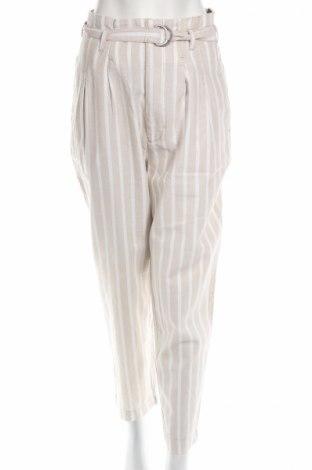 Dámske nohavice Abercrombie & Fitch, Veľkosť L, Farba Biela, 55% ľan, 45% bavlna, Cena  24,59€