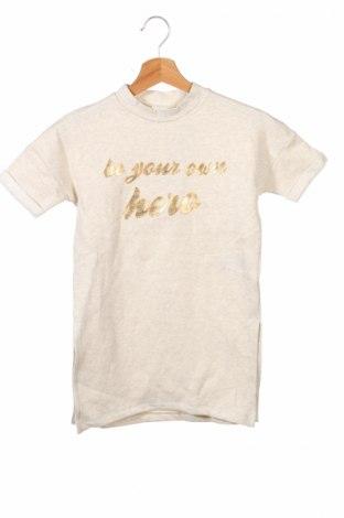 Tunică de copii Name It, Mărime 6-7y/ 122-128 cm, Culoare Ecru, Bumbac, Preț 30,02 Lei