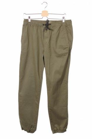 Ανδρικό παντελόνι Pier One, Μέγεθος S, Χρώμα Πράσινο, 99% βαμβάκι, 2% ελαστάνη, Τιμή 4,82€