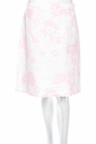 Пола H&M, Размер M, Цвят Бял, Лен, Цена 6,58лв.