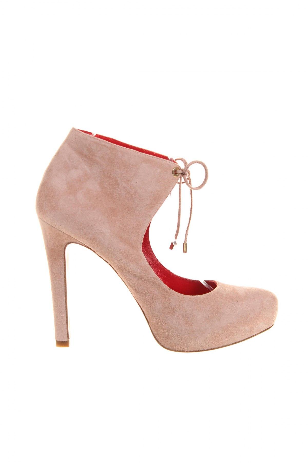Дамски обувки Pura Lopez, Размер 40, Цвят Розов, Естествен велур, Цена 282,00лв.