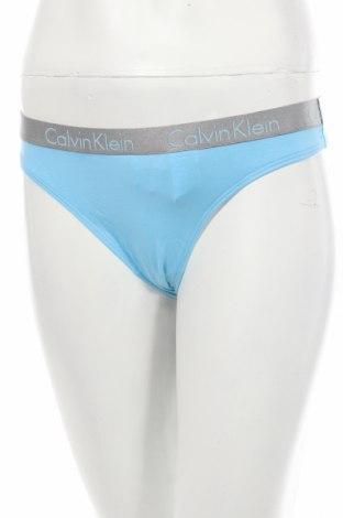 Бикини Calvin Klein, Размер M, Цвят Син, 95% памук, 5% еластан, Цена 34,45лв.