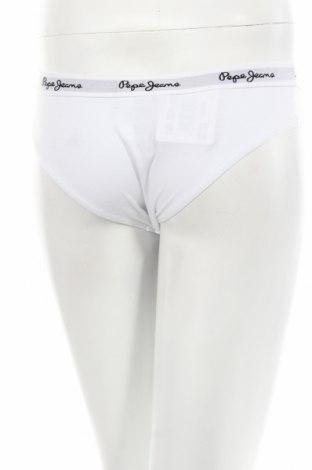 Бикини Pepe Jeans, Размер M, Цвят Бял, 95% памук, 5% еластан, Цена 29,90лв.