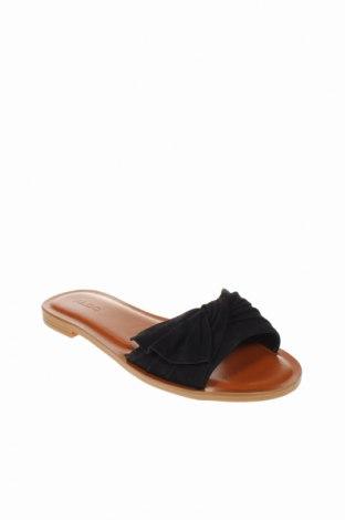Γυναικείες παντόφλες Aldo, Μέγεθος 37, Χρώμα Μαύρο, Γνήσιο δέρμα, Τιμή 28,90€