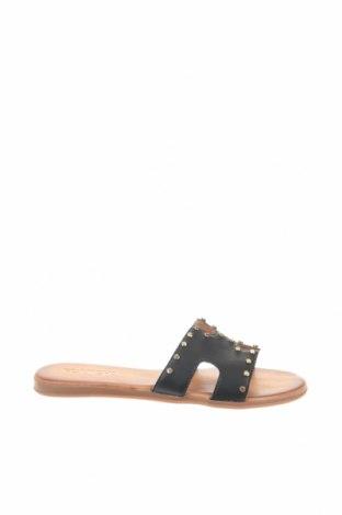 Γυναικείες παντόφλες Flanch, Μέγεθος 39, Χρώμα Μαύρο, Γνήσιο δέρμα, Τιμή 22,41€