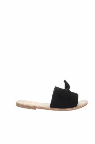 Γυναικείες παντόφλες Manoukian, Μέγεθος 38, Χρώμα Μαύρο, Φυσικό σουέτ, Τιμή 44,54€