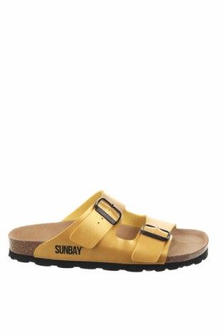 Γυναικείες παντόφλες Sunbay, Μέγεθος 39, Χρώμα Κίτρινο, Δερματίνη, Τιμή 20,63€
