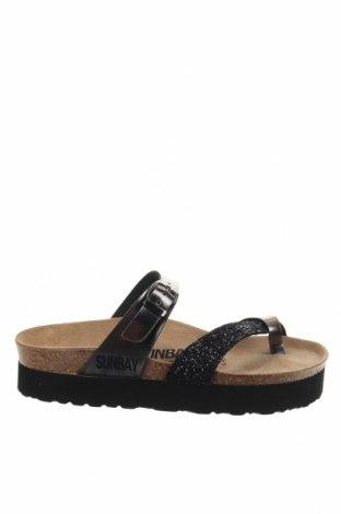 Γυναικείες παντόφλες Sunbay, Μέγεθος 37, Χρώμα Μαύρο, Δερματίνη, Τιμή 22,41€